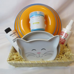 cat lover basket